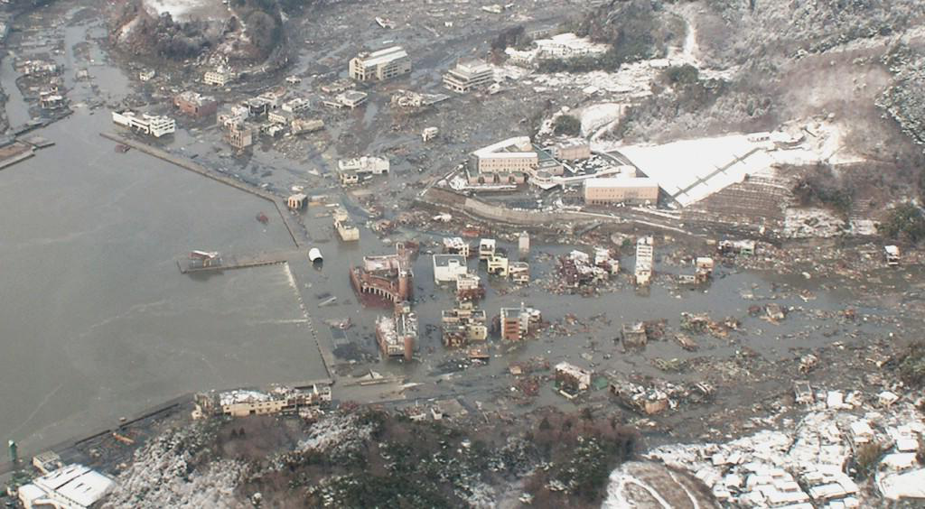 Town of Onagawa after the 2011 East Japan 海啸 event