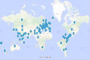 worldwide membership map